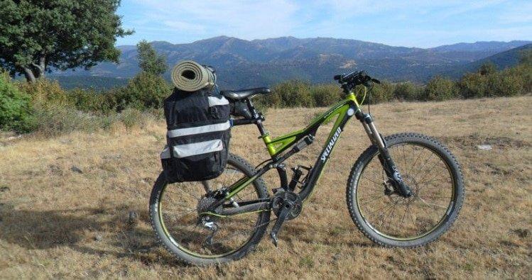 Bici doble suspension camino de santiago