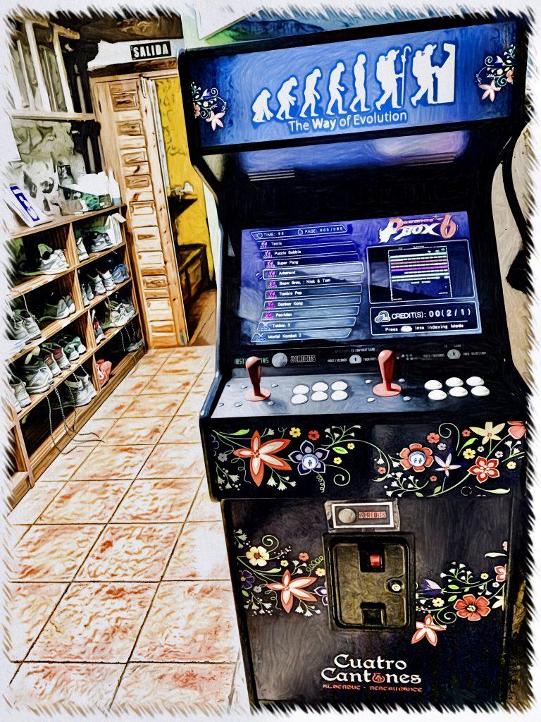 Máquina arcade gratis albergue Belorado 1